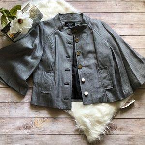 NWT Sharagano Herringbone Kimono Blazer, Sz Large